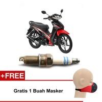 Bosch Busi Sepeda Motor Honda Revo UR4A130 Irridium - Gratis Masker