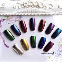 RANDOM color mirror powder chrome powder bunglon nails art nail art