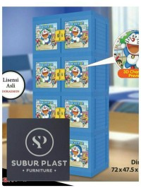 Lemari Plastik Doraemon susun 4