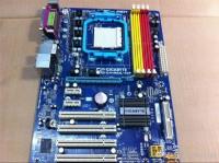 Motherboard gigabyte am2+ GA-M52L-S3P off board+ proci+ headsink..