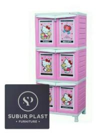 lemari plastik napolly Hello Kitty