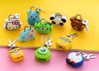 Gembok Mini Karakter Kartun lock kunci koper tas motif aksesoris bag