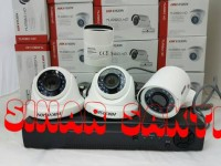 PAKET CCTV 4 CAMERA Hikvision Full HD 2MP ( lengkap tggl pasang )