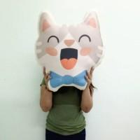 Bantal Boneka Plushie - XL Cat Laugh (max 50x70 cm)