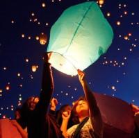 Lampion Terbang Kertas Flying Lantern
