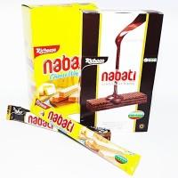 Wafer Richeese Nabati Box keju / coklat kecil renyah isi 20 pcs x 8gr