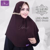 jilbab instan Arrafi Talita Std Bunga (Dark Brown) 45Bu hijab kerudung