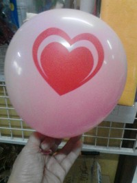 Balon Sablon 2 sisi Satu warna