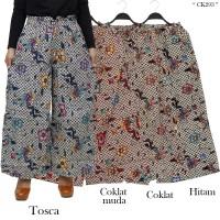 Celana Panjang /Celana Kulot Katun motif Batik-293