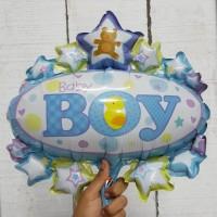 Balon Foil Baby Boy Oval/ Balon Baby Shower by ESSLSHOP2