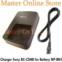 Charger Bc-Csn / Bc-Csnb Battery Np-Bn1 Kamera Sony Dsc-W310, W320,