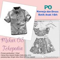 PO Kemeja atau Dress Batik Anak