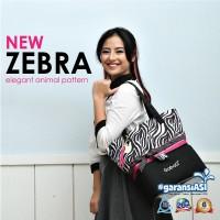 Cooler bag / tas pendingin asi merk gabag zebra baby bow