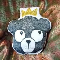 Bantal Boneka Plushie - Large Bear King (max 35x45 cm)