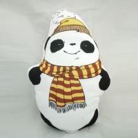 Bantal Boneka Plushie - Small Panda Syal (max 20x35 cm)