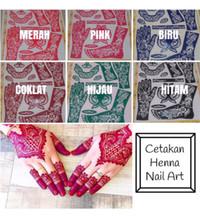 Henna Nail Art Golecha / Cetakan Tangan Henna