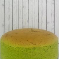 japanese cheese cake greentea