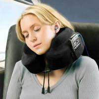 Travel Pillow Bonform Original bantal Leher mobil dg tempat HP