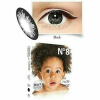 Softlens / Soflen / Softlense ice n8 Black Big Eyes 6 Bulanan