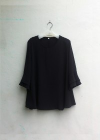 [NEW] Blouse Wanita Big Size 2L, 3L, 4L & 5L Warna Hitam
