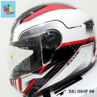 PAKET MURAH 2 IN 1 ZEUS 811 white red black helm fullface IRON MAN