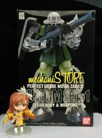 PG Zaku II Custom Set 1 Clear Body & Weapon