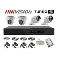 Paket cctv HIKVISION 8CH FULL HD & 4 CCTV 2MP ORIGINAL LENGKAP