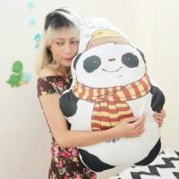 Bantal Boneka Plushie - XL Panda Syal (max 50x70 cm)