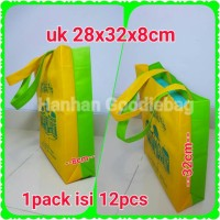 Tas lebaran/tas goodie bag/tas parcel/goodiebag M 28x32x8cm