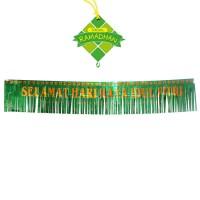 HO25103/ Banner Ornament Tulisan Lebaran / Hiasan Idul Fitri Murah