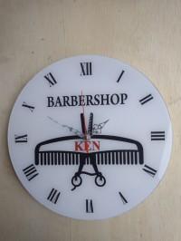 Jam Dinding Akrilik Barbershop Custom