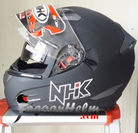 NHK Helm RX9 / RX 9 Hitam DOP / RX-9 SOLID Black Doff