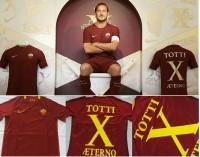 JErsey Baju Bola AS Roma Home 16/17 Totti X Aeterno Legend 10 GradeOri