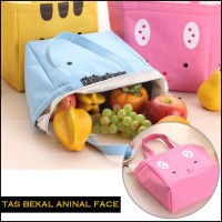 Tas Bekal Makan - Iconic Insulated Lunch Bag Cooler ANIMAL FACE (GN212
