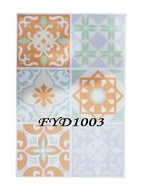 STICKER TEGEL  FYD1003 GLITER 45CM X 30 CM ISI 6 KOTAK CREAM SOFT