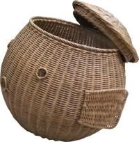 Tilavie Keranjang Laundry - Ikan buntal - Rotan - Anyaman