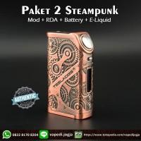 Paket Siap Ngebul 2 Tesla Steampunk Nano Mod 120W [100% Authentic]