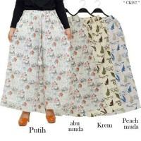 Celana Kulot Dewasa Bahan Katun Linen motif