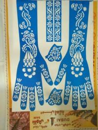Cetakan    Stiker Henna Tangan
