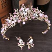 Mahkota Rambut Pengantin pink /Crown Pesta Wedding Modern