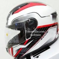 ZEUS 811 white red black helm fullface IRON MAN M L XL