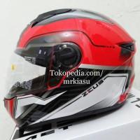 ZEUS 811 red silver black white helm fullface IRON MAN M L XL