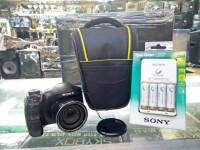 KAMERA SONY DSC-H200 + TAS + MEMORI 8GB + POWER CHARGER AA +4 BATRE AA