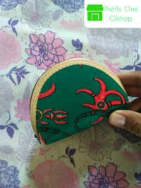 Souvenir Pernikahan Dompet Batik koin resleting pelog