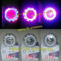 lampu utama headlamp led projie/projector Angel eye nmax vario 150 dll