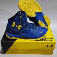 Under Armour Curry 2 high (biru Kuning)