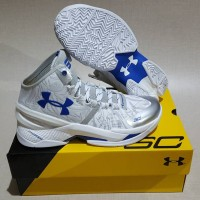 Under Armour Curry 2 high (White Silver)