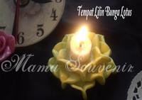 Souvenir Tempat Lilin Bunga Lotus Flower Candle Light Holder Murah