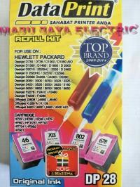 Refill Kit Tinta Suntik Data Print Colour Warna DP 28 DP28 -Printer HP