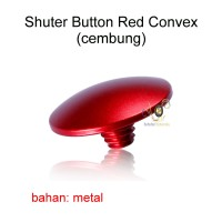 Soft Shutter Release Button Red (convex cembung)